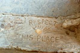 Inscription at Big Caliente Hot Springs